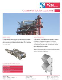Kobo USA Bulk Industry Flyer Chains for Bucket Elevators