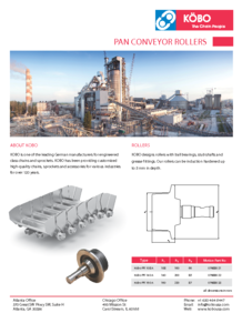 Kobo USA Bulk Industry Flyer Pan Conveyor Rollers