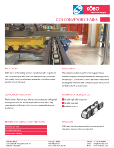 Kobo USA Automotive Industry CC5 Chains Flyer
